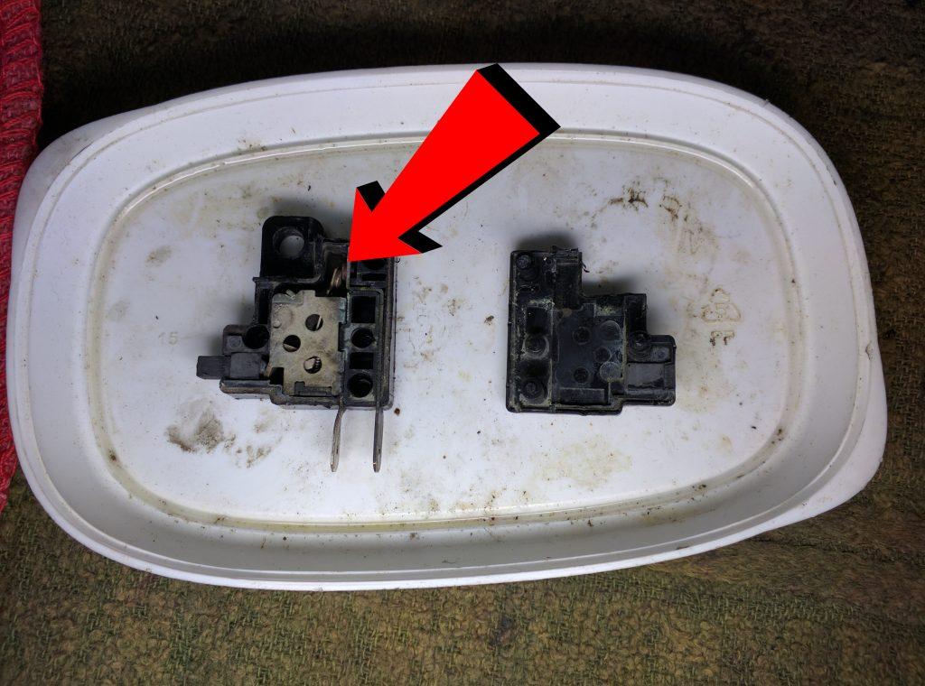 Dirty brake switch