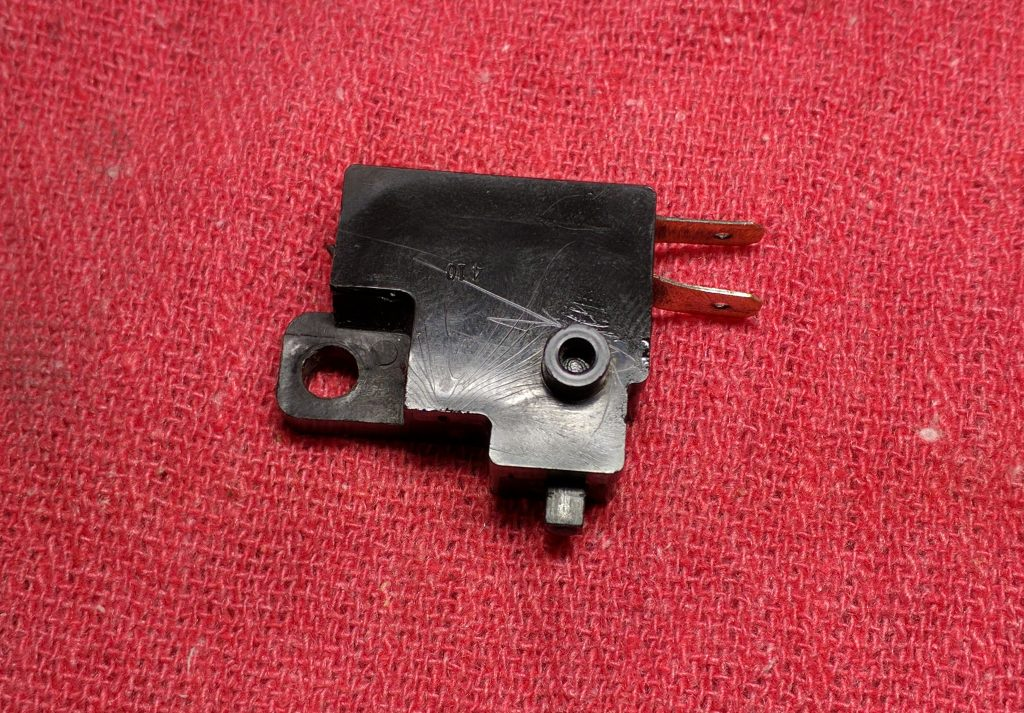 Cleaned and reassembled brake switch